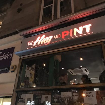 the front of Hug and Pint