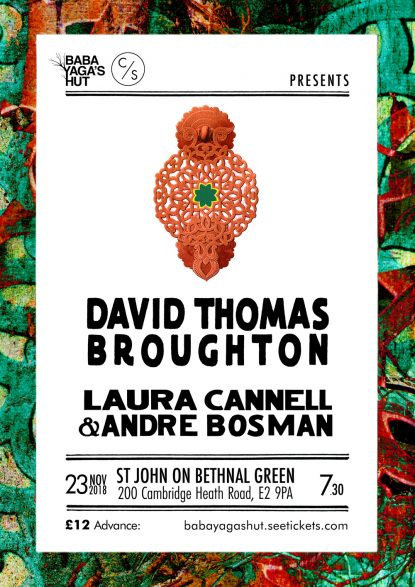 Poster - DTB / Laura Cannell and Andre Bosman, London 23 November 2018