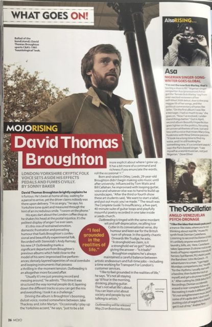 Mojo Magazine - May 2011, interview by Sonny Baker