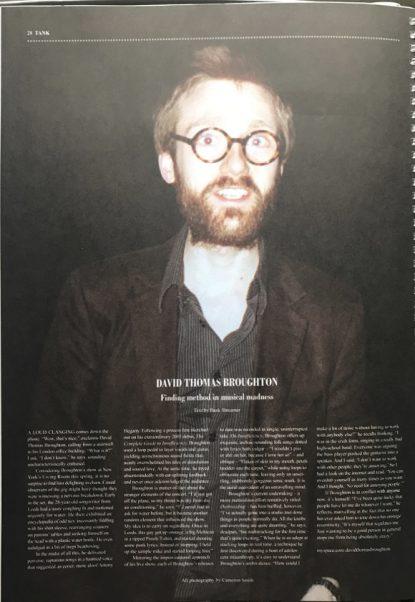 Tank Magazine interview - 2007